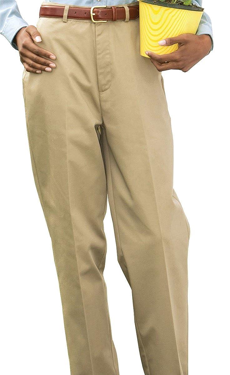 Edwards Garment Women's Flat Front Button Closure Utility Pant 8567