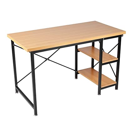 Blackpoolfa Modern Simple Desktop Computer Desk Student Learning Writing  Desk Computer Table PC Laptop Desk Home