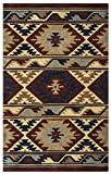 Rizzy Home SU2253 Southwest 3-Feet by 5-Feet Area Rug, Red
