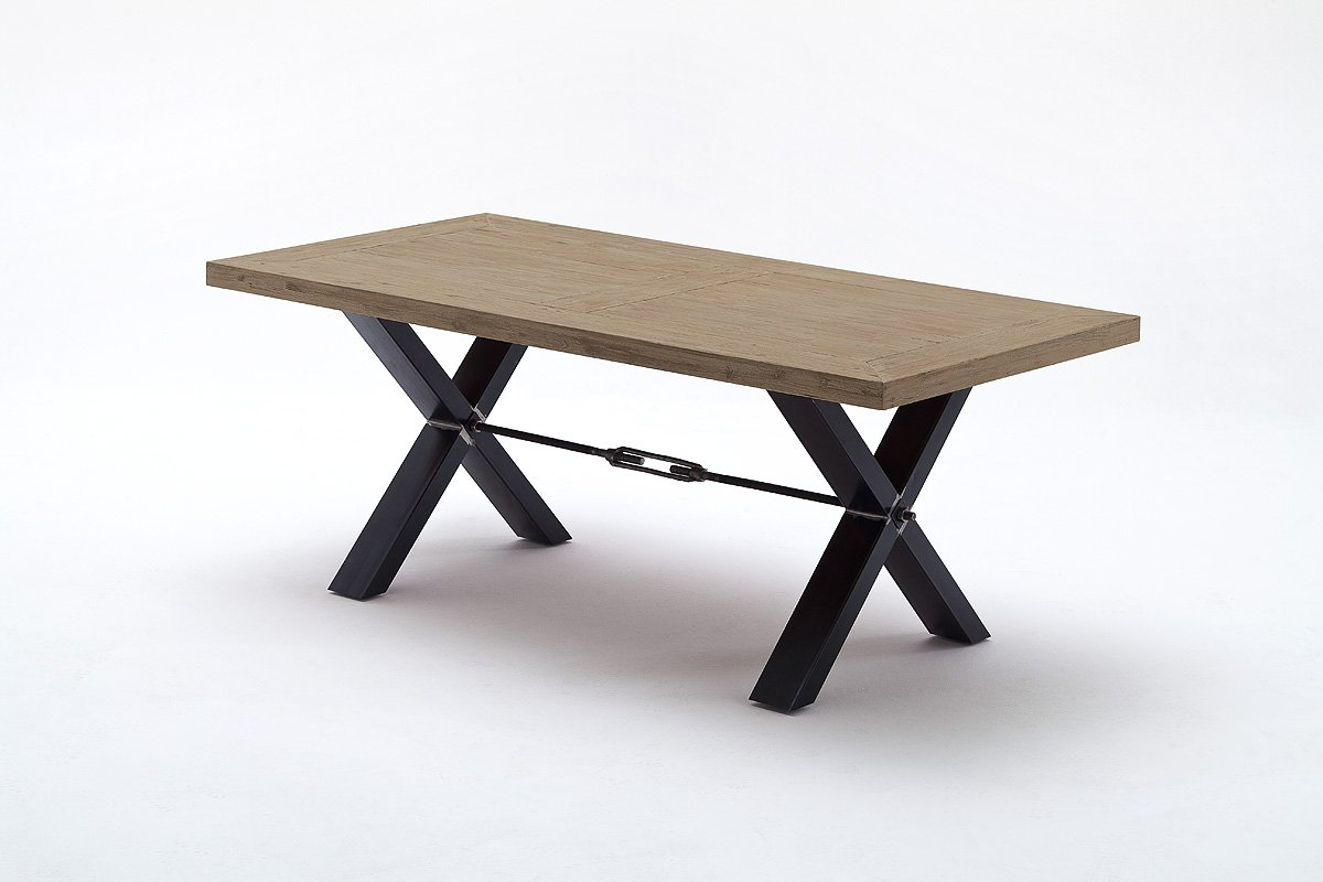 Tisch, Esstisch, Esszimmertisch, Akazie massiv, javagrau, L=200 cm