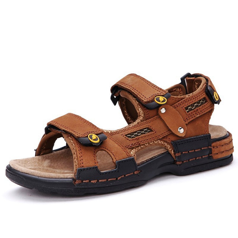 Beude Rubber Sole Summer Anti-skid Kids Sandals for Boys Brown 36 4.5 M US Big Kid