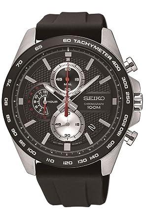 Seiko Reloj Cronógrafo para Hombre de Cuarzo con Correa en Silicona SSB287P1: Amazon.es: Relojes