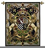 Fine Art Tapestries ''Crest On Black II'' Wall Tapestry