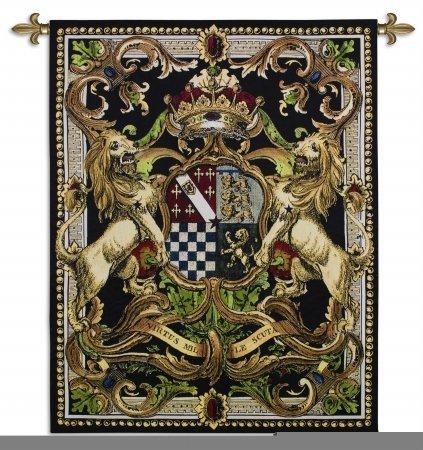 Fine Art Tapestries ''Crest On Black II'' Wall Tapestry by Fine Art Tapestries