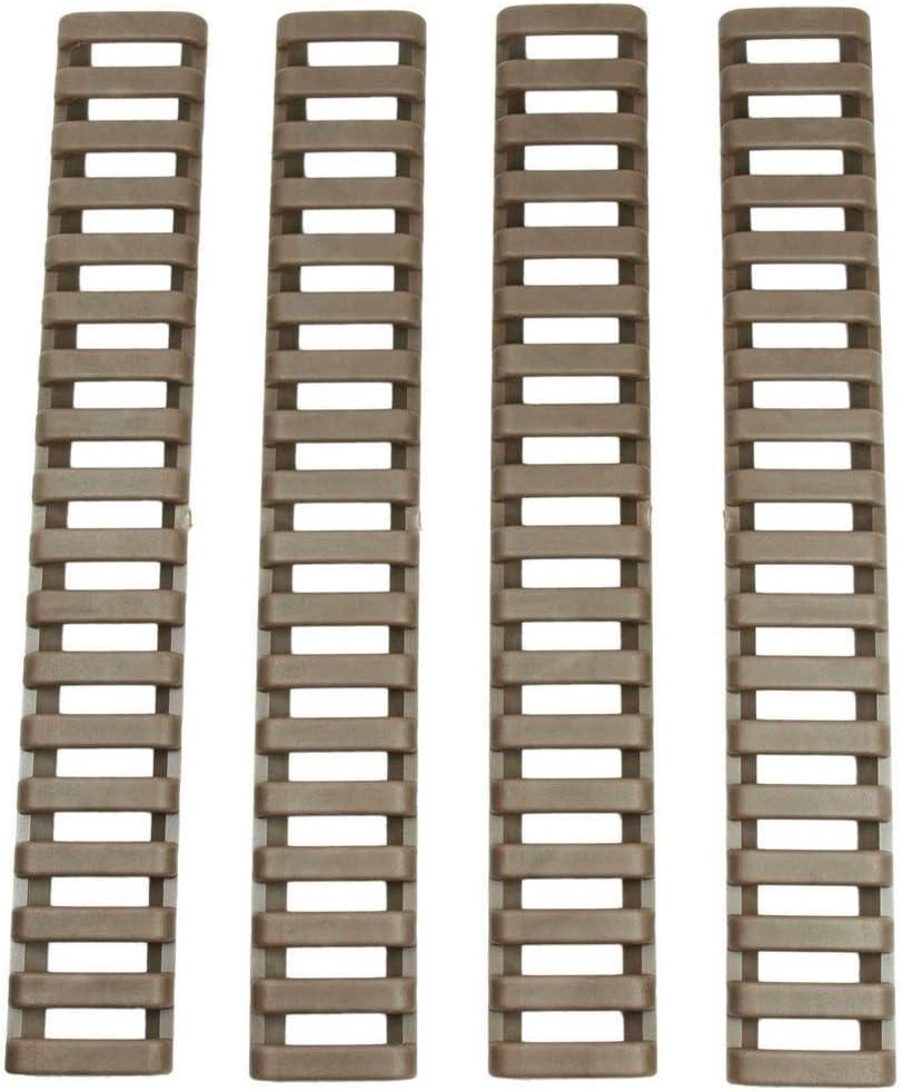 XBF-Armas de Aire comprimido, 8pcs Antideslizante Ligero Calor Duradero Resistente a la Goma Cubiertas en Forma for Keymod/M-LOK Picatinny Rail (Color : Sand)