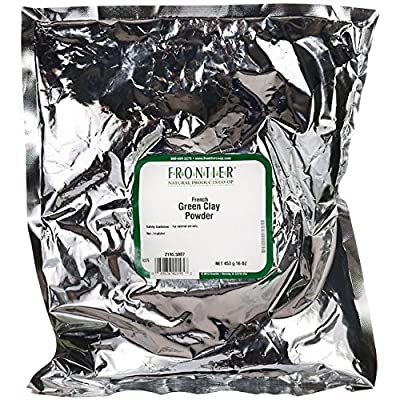 Frontier Natural Products Co-Op French Green Clay Powder 16 oz Pkg from Frontier Natural Products Co-Op