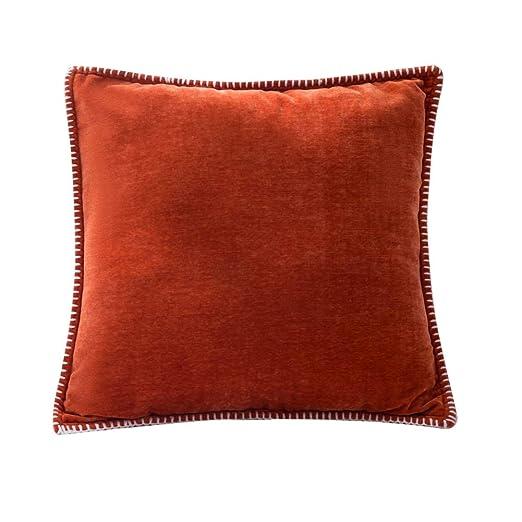 Handfly Chenille Throw Pillow Case Funda de cojín Lino ...