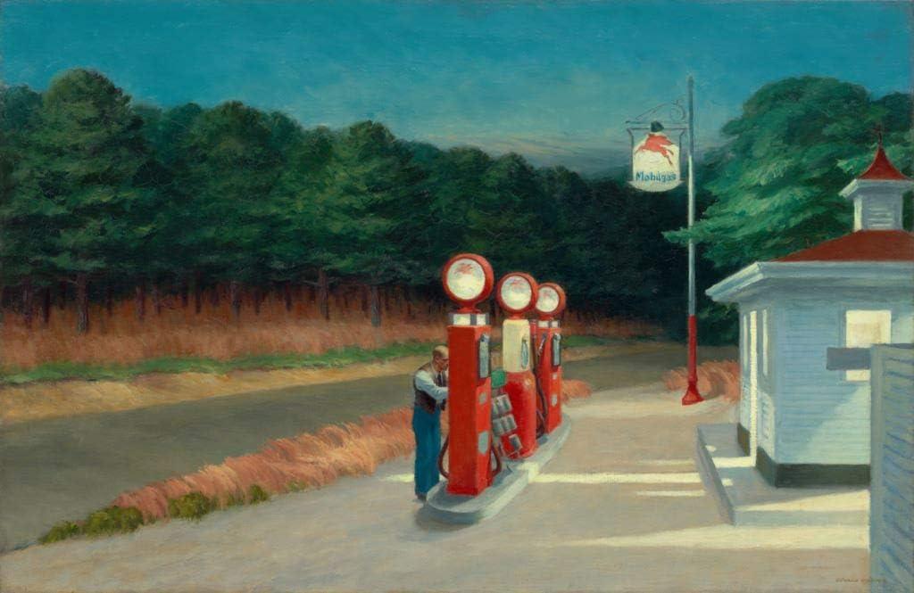 Fabulous Poster Affiche Gas Station 1940 Edward Hopper Peinture Realisme Amerique