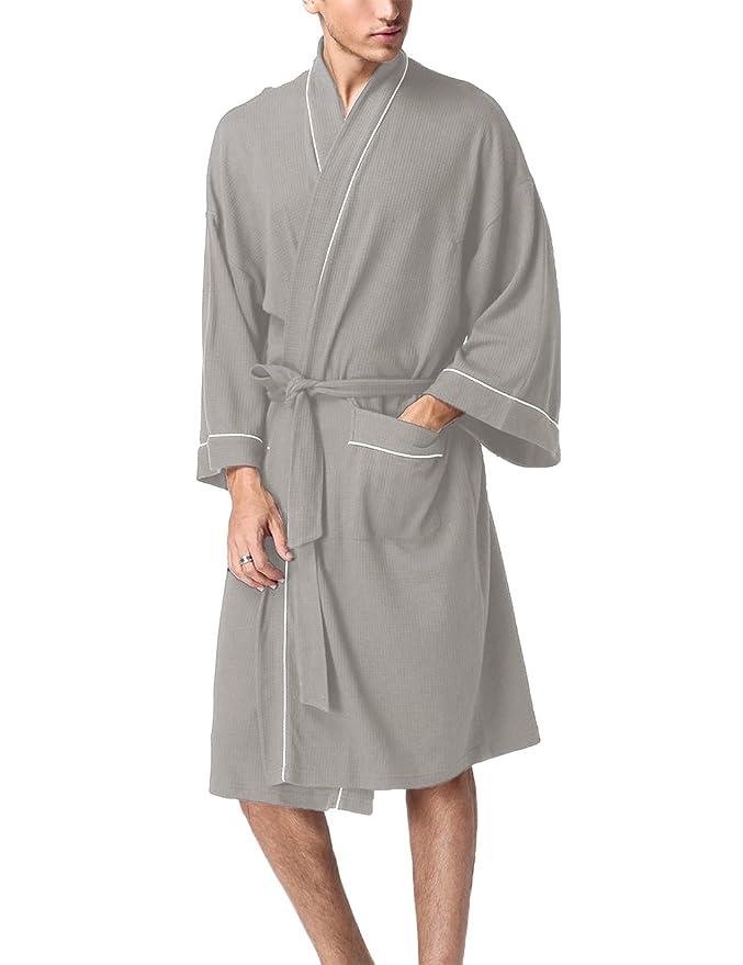 Men s Captains Woven Shawl-Collar Robe Cotton Bathrobe Navy M at Amazon  Men s Clothing store  6983e8fb3