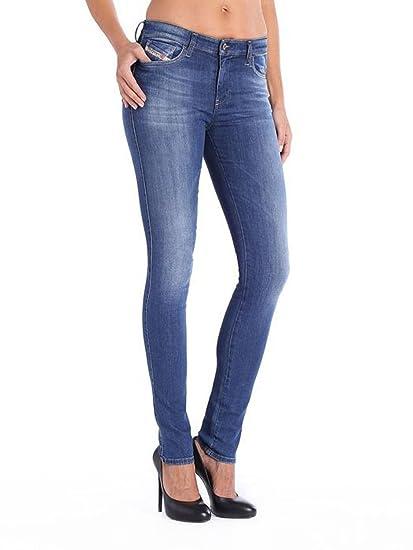 Diesel Skinzee-Low 0826F Women Jeans (W27/L32, Blue)