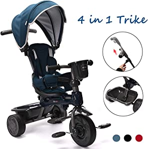 ChromeWheels 4-in-1 Kids' Trike & Stroller