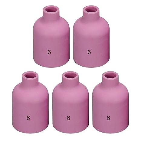 54N17 5# Alumina Nozzle GAS Lens Fit SR DTA DB WP 17 18 26 TIG Welding Torch 3PK