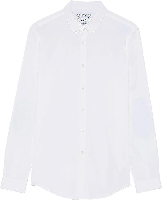 Zara 7545/324 - Camisa Oxford para Hombre con Parches en el ...