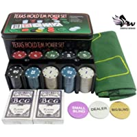 TEXAS HOLD 'EM UP POKER PLAYING SET - CASINO GAMES