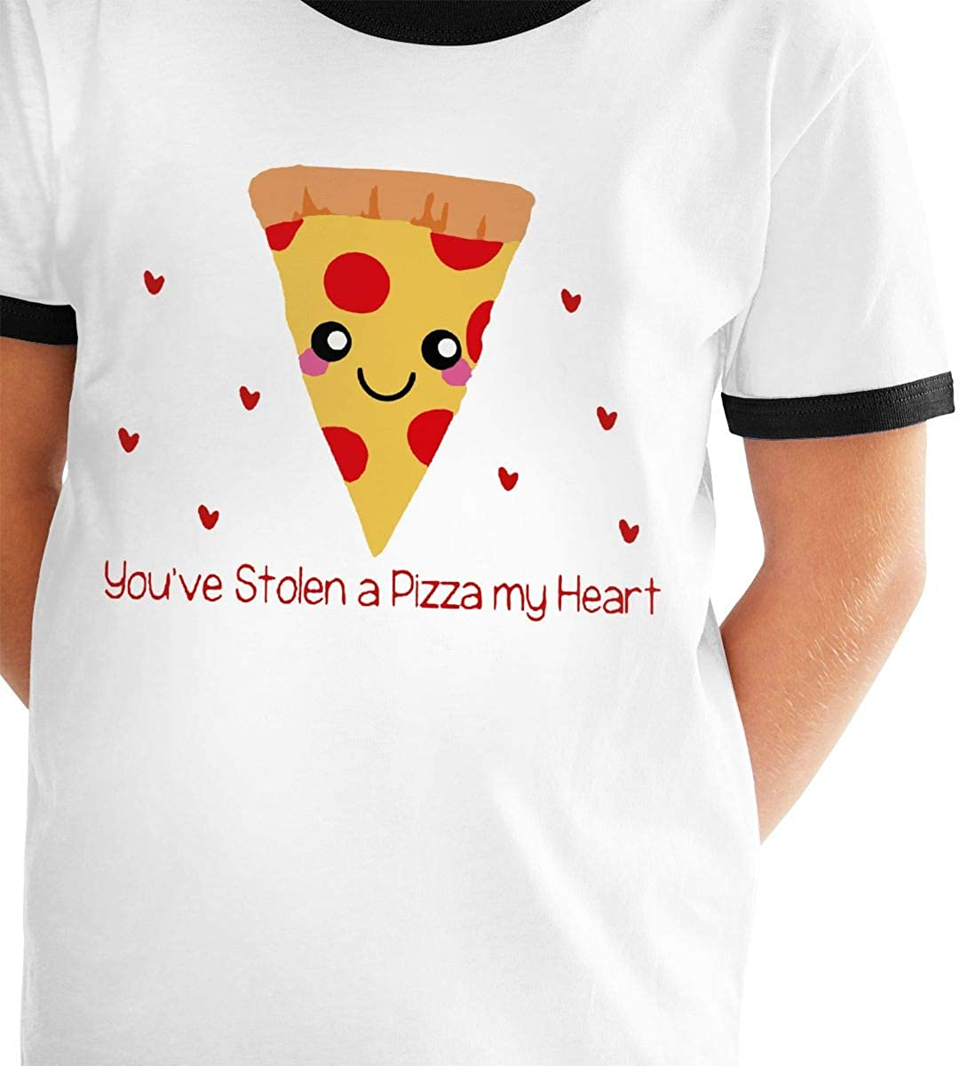 Manlee Youve Stolen A Pizza My Heart Unisex Childrens Short Sleeve T-Shirt Kids Or Little Boys and Girls