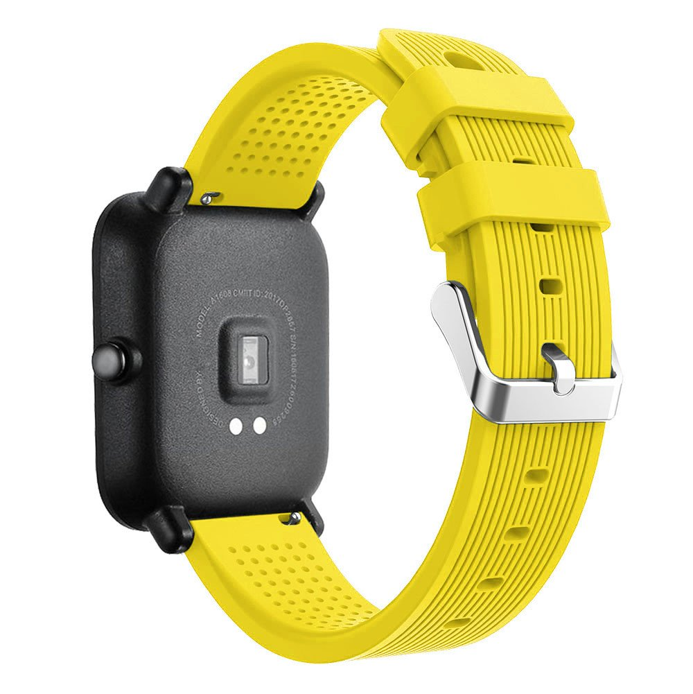 iumei for Huami Amazfit Bip Watch Band, Sport Replacement Soft Silicone Strap Bracelet Bands Wirstband for Huami Amazfit Bip Watch (Yellow)