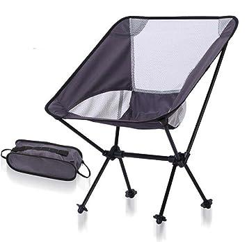 Plegable silla de camping, compacto plegable mochilas sillas ...
