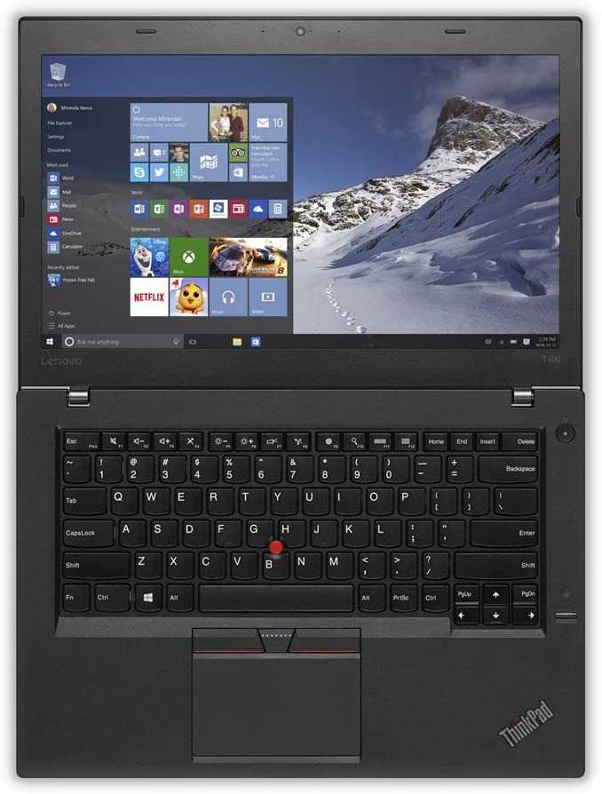 "Lenovo ThinkPad T460 Business Ultrabook (14"" HD Display, i5-6200U 2.3GHz, 8GB RAM, 500GB HDD, FingerPrint Reader, Non-Backlit Keyboard, Window 7 Pro 64 Upgradeable to Win 10 Pro)"