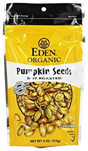 Eden Organic Pumpkin Seeds, Dry Roasted, 4 Oz