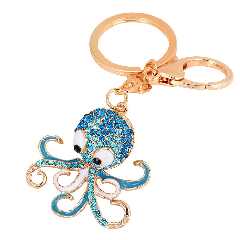 Finance Plan Hot Sale Lovely Cartoon Octopus Pendant Key Chain Keychain Ring Bag Purse Wallet Decor
