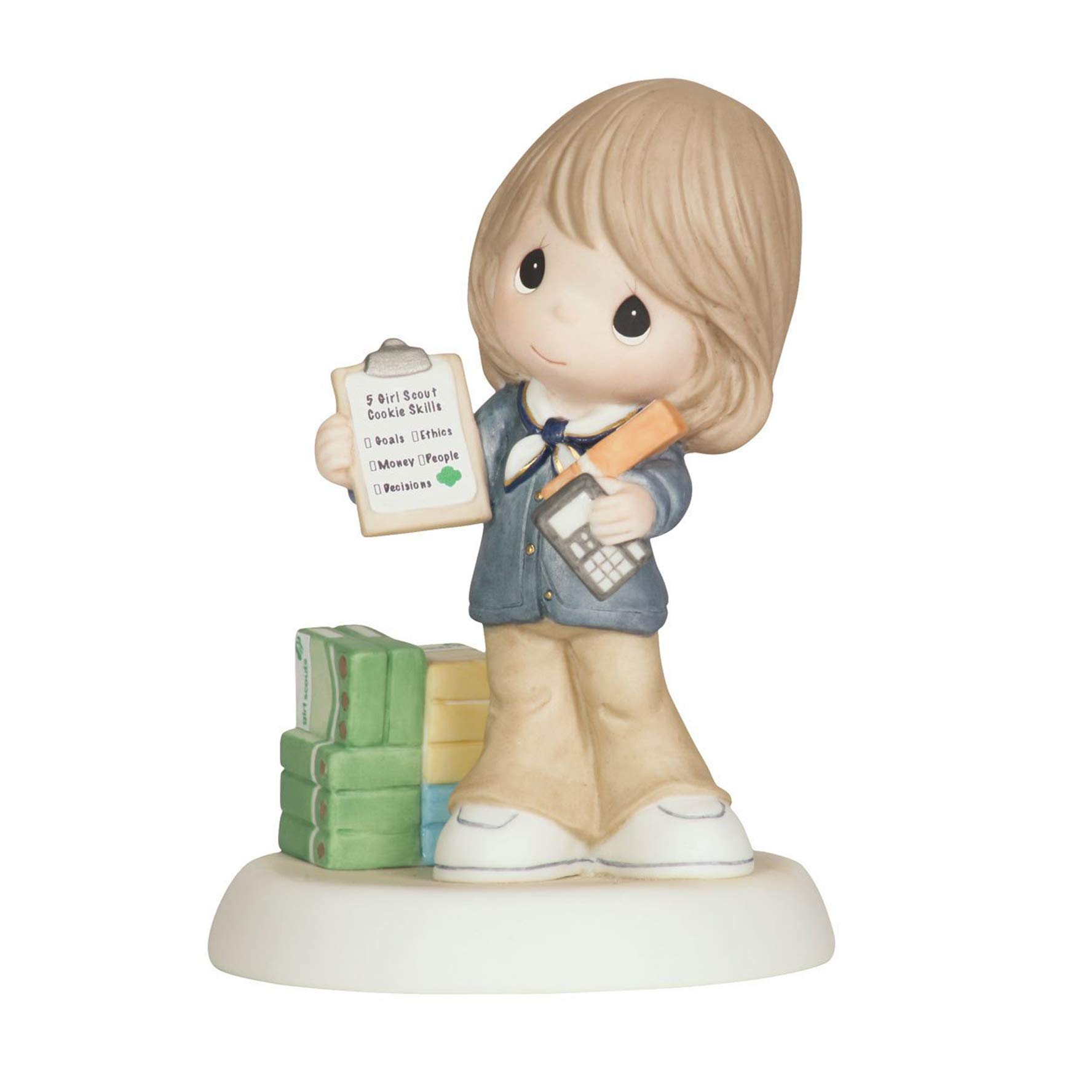 Precious Moments - We Can Always Count On You - Girl Scouts Figurine - 104032 by Precious Moments
