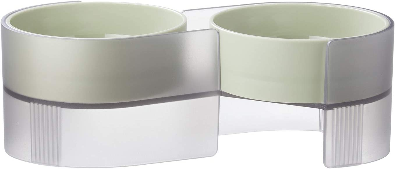 pidan Elevated Cat Bowls Set with Tilted Stand and 2 Removable Bowls, Raised No Spill Pet Food and Water Dishes for Cat and Small Dogs