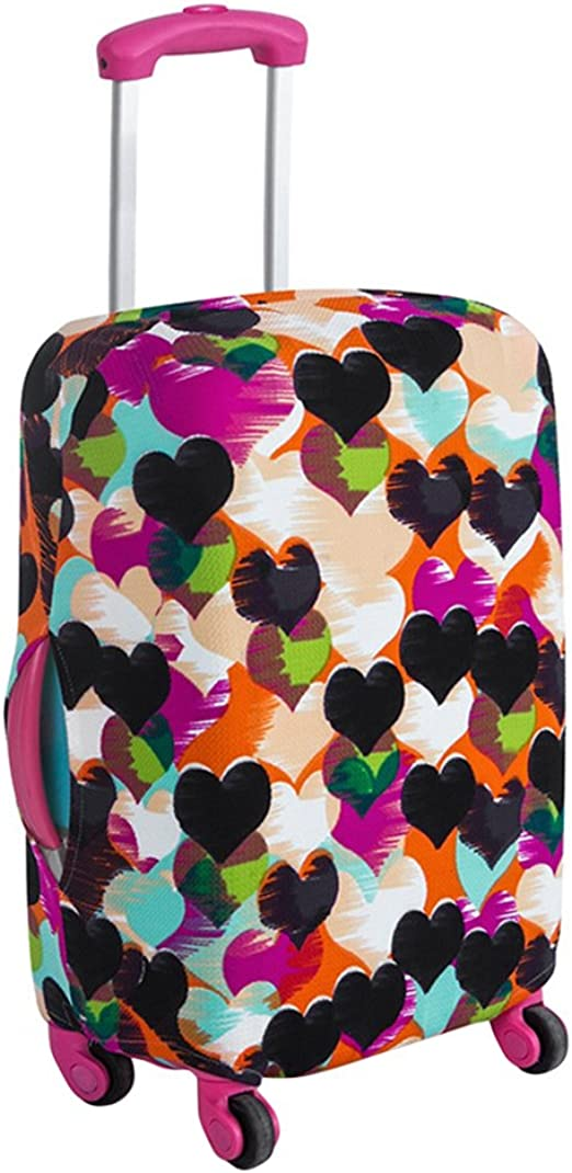 Sugar Skull Travel Luggage Cover Stretchable Polyester Suitcase Protector Fits 18-20 Inches Luggage