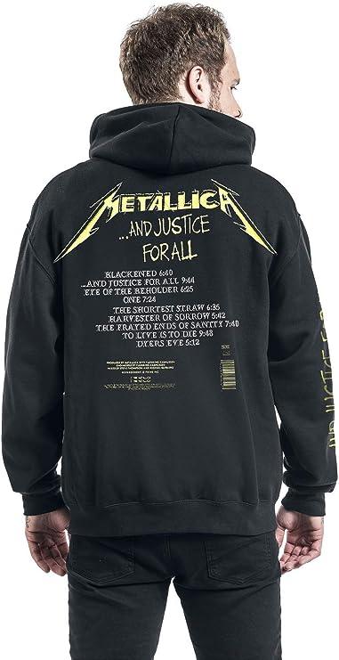 G/én/érique Metallica and Justice for All Sweat-Shirt /à Capuche Noir