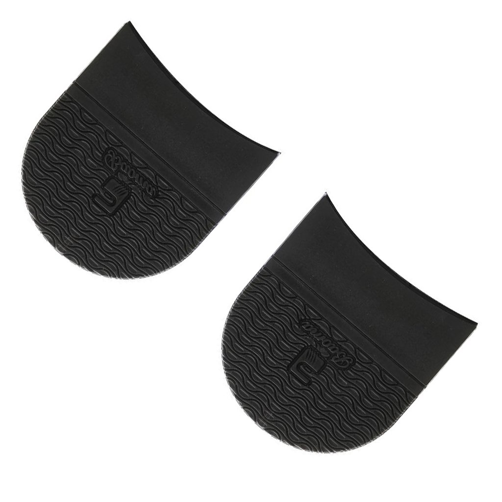 Sharplace Talons En Caoutchouc Unisexe Et Colle Sur Demi-semelles Anti-d/érapant R/éparation De Chaussures Noir