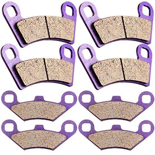 SCITOO Kevlar Carbon Fiber Brake Pads Fit for 08 09 10 11 12 13 14 Polaris RZR 800,09 10 11 12 13 14 Polaris RZR S - Carbon 09 Fiber