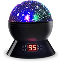 [Upgrade Version] Star Sky Night Light, Dostyle Star Projector 360 Degree Rotating Cosmos Baby Lights Lamp with LED Timer Auto-Shut, Color Changing, USB Cable Plug for Kids Baby Nursery Bedroom Room