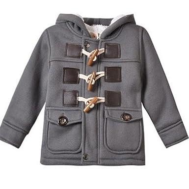 9e559683b Amazon.com  Baby Boy Warm Winter Horn Button Outerwear Toddler ...
