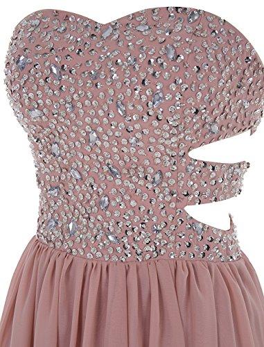 Dresstells Longue Robe De Bal Avec Des Perles Soir En Mousseline De Soie Chérie Blush Robe De Soirée