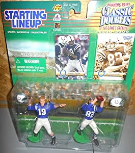 1999 Starting Lineup Classic Doubles Baltimore Colts Johnny Unitas & Raymond Berry