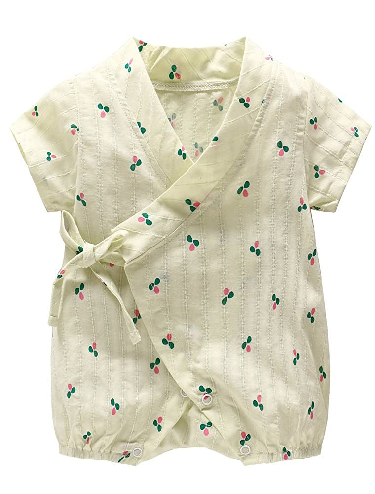 ARAUS Barboteuse B/éb/é Infantile Kimono Manches Courtes /ét/é Kimono Enfant B/éb/é 3-24 mois