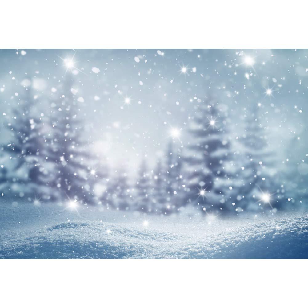 OERJU 1,5x1m Inverno Scenario Fondale Forte nevicata Foresta Neve che cade Notte Sfondo Scena invernale Nozze Nuovo anno Inverno romantico Ritratto Natale Fotografia puntelli
