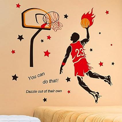 Amazon.com: Amaonm Creative 3D Basketball Player Dunk Basketball ...