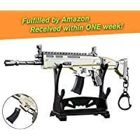 """Charminer Armi SCAR L pistola fucile fucile giocattolo modello in metallo, Scar Light Rifle Modello 3D Portachiavi Dimensione 6.8 """"/ 17 cm Arma replica accessori per bambini adulti ragazzi"""