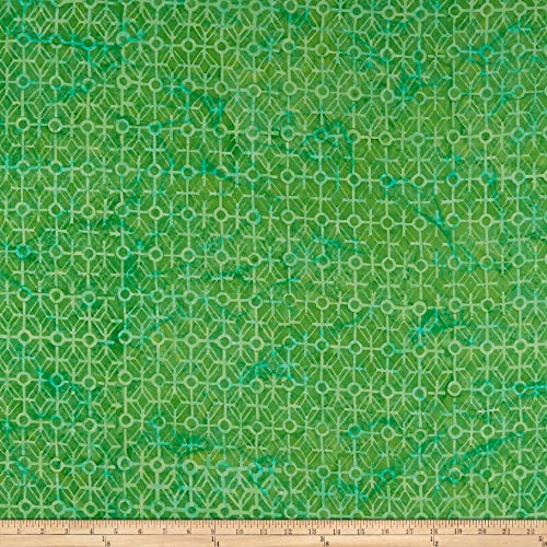 Timeless Treasures Tonga Batik hopper Maze Fabric, Grass, Fabric By The Yard