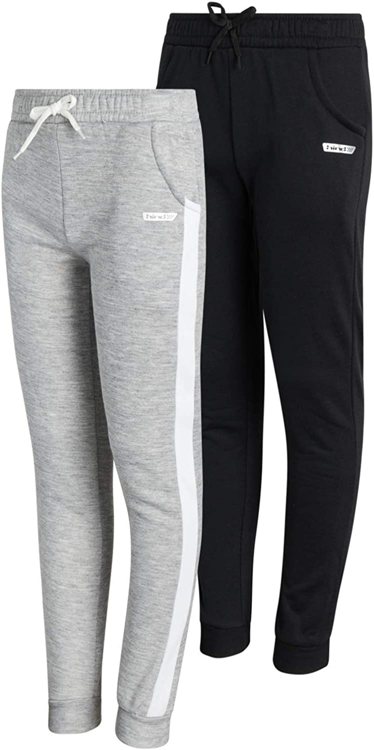 Hind Girls Sweatpants -Fleece Joggers with Pockets (2 Pack): Clothing