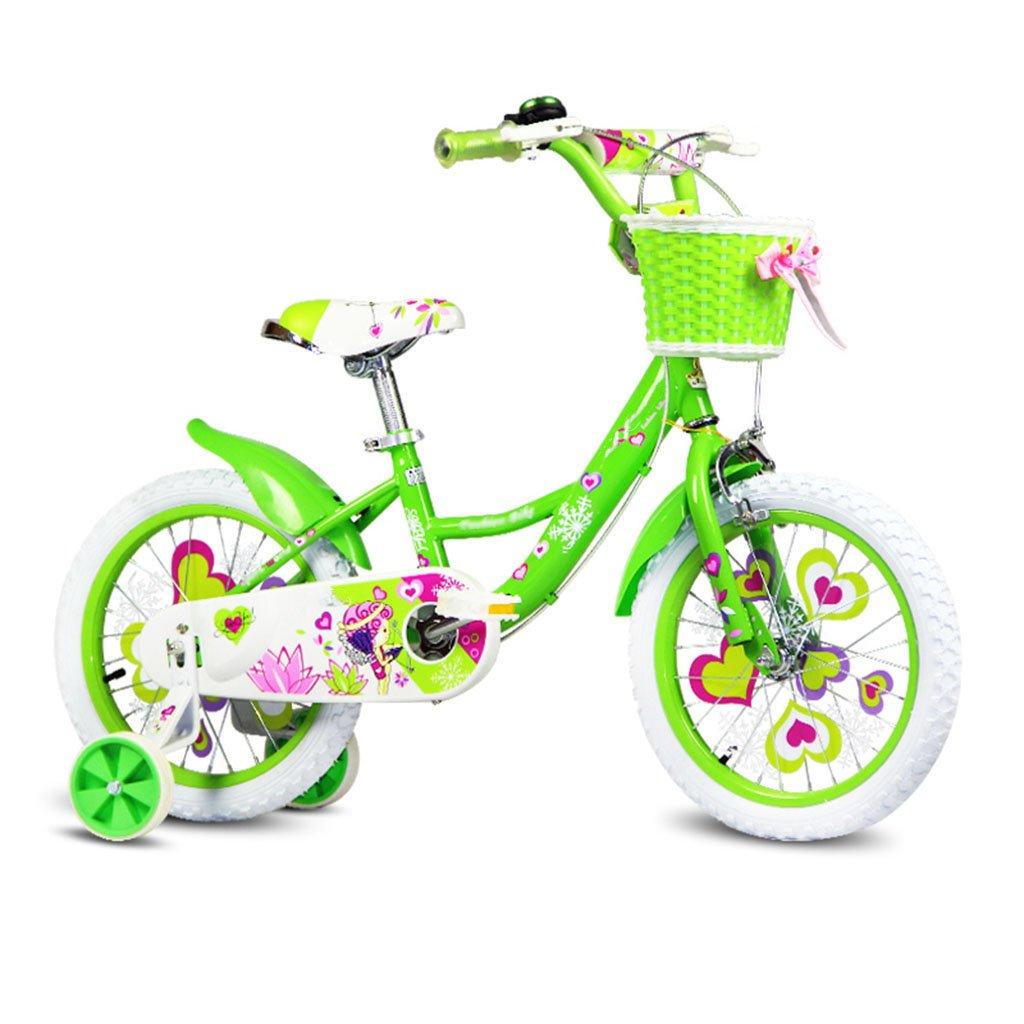 CGN子供の自転車、折りたたみ自転車の自転車の女の子、赤ちゃんの子供の女の子、赤ちゃんのキャリッジ soft B07C4VC3QF 緑 緑