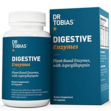 What Is Excessive Gas Digestive Health Center >> Amazon Com Dr Tobias Digestive Enzymes 18 Enzymes For Digestive