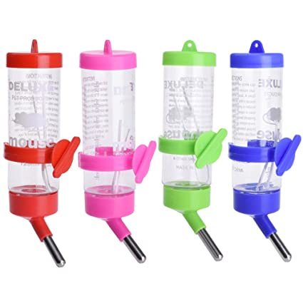 125ML Plástico Animales pequeños Botella de conejo para el hámster Ardilla agua bebiendo dispensador botellas (