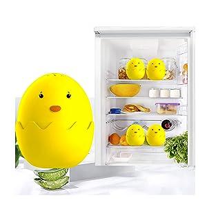 Refrigerator Deodorizer Egg Freezer Fridge Odor Eliminator Effective Air Purifier Diatom + Activated Carbon Air FreshOdor Absorber Refrigerator freshener New 2019