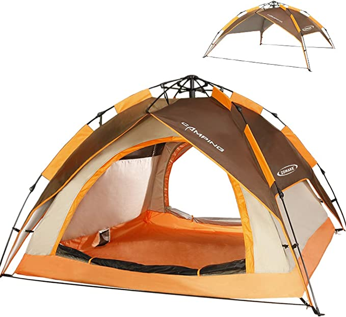 ZOMAKE Dome Watperoof Instant Tent for 2-4 Persons