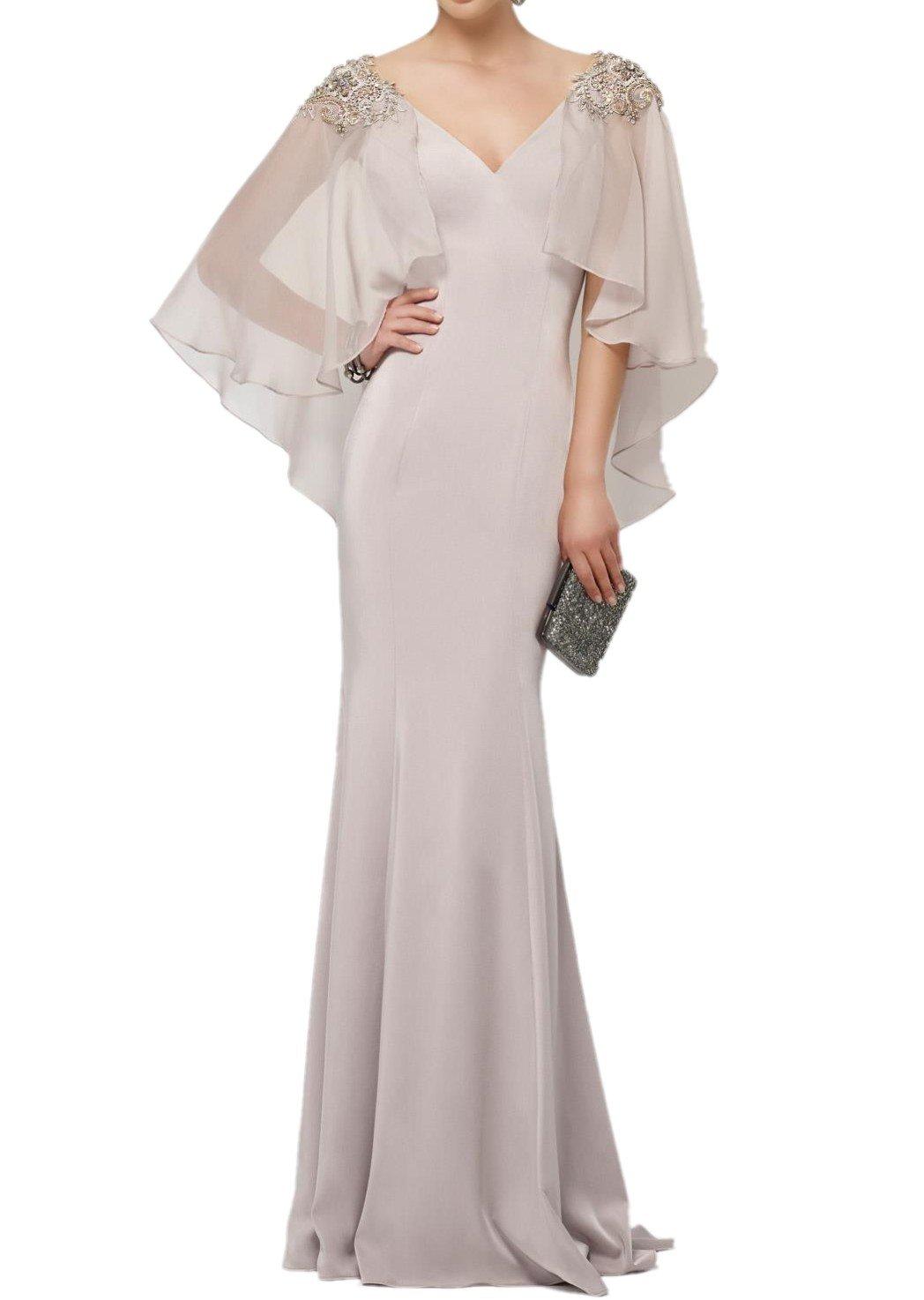 Charmant Damen Hell Silber Elegant Chiffon Meerjungfrau Abendkleider  Ballkleider Festlich Partykleider Lang: Amazon.de: Bekleidung