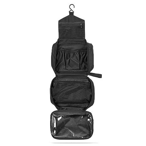 63554cc0c SWISSONA Neceser Premium, Impermeable y Colgante, Ideal para Viajar, Malla  y Cierre de