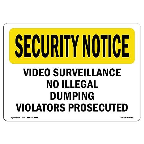 Amazon.com: OSHA Seguridad aviso señal – Sin ilegal de ...