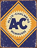 Allis Chalmers Logo Tin Sign 12 x 16in