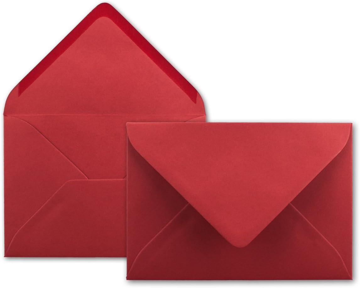 120/g//m/² nassklebung Carta de fundas sin ventana para invitaciones /& Mensajes de gl/üxx en su Agent 75/DIN C6/sobres rosas rojo 114/x 162/mm